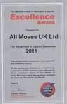 January 2012 Nottingham, Derby & Leicester Removals News