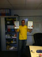 Warren Gerry and Michael with their certificates for Health and Safety