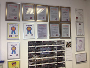 Our Award wall is now looking rather full