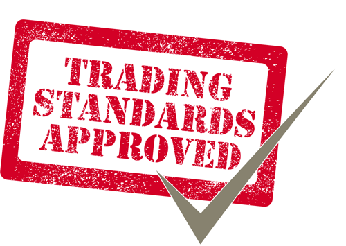 Approved by both Derbyshire and Nottinghamshire Trading Standards Agencies