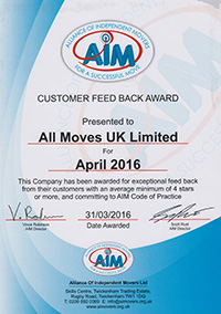 We are Members of A.I.M (The Alliance Of Independent Movers)